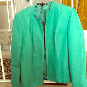 Mint green fitted blazer